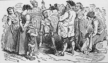 Don Quijote slås til ridder af en krovært